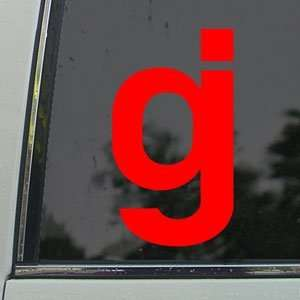 Glassjaw Red Decal Rock Band Car Truck Window Red Sticker