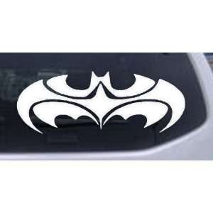 White 14in X 5.4in    Tribal Batman Car Window Wall Laptop