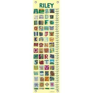 Animal Alphabet Growth Chart Baby