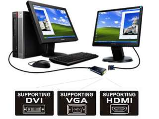 USB Multi Screen Display Graphics Adapter DVI VGA HDMI