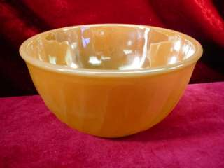 Vintage 1950s FIRE KING PEACH LUSTRE Swirl MIXING BOWL Beautiful