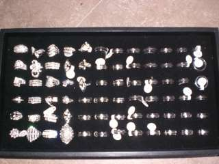 COSTUMES JEWERELY BLING RINGS MIXED LOT OF 88 RINGS