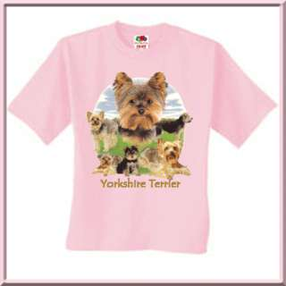 Yorkshire Terrier Lawn Collage Yorkie Dog T Shirt KIDS