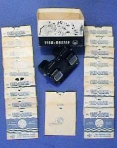View Master 3 D Viewer w/ Box   Lot of 1940s View Master Reels