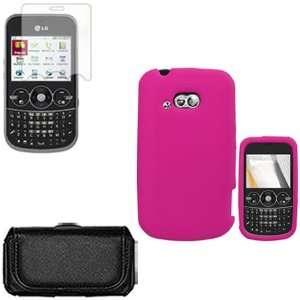 iFase Brand LG 900G Combo Solid Hot Pink Silicone Skin Case Faceplate