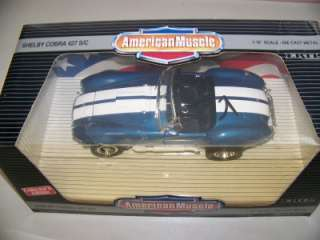 Ford Shelby Cobra 427 S/C American Muscle Ertl 118 NIB Great