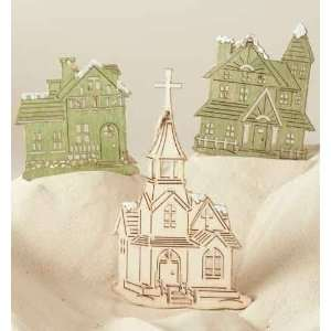 Club Pack of 24 Celebration Church and House Wooden