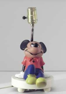 DISNEY MICKEY MOUSE DESK LAMP WITH NIGHT LITE MADE IN HONG KONG