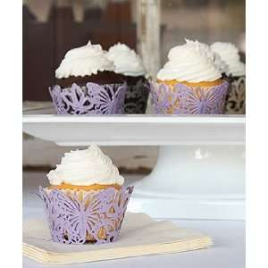 Wedding Cupcake Wrappers   Butterfly Cupcake Wrappers