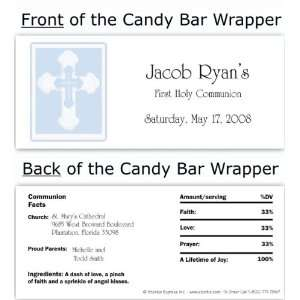Blue Border Cross Candy Wrapper Baby