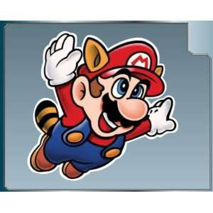 Raccoon Mario Cartoon vinyl decal sticker #1 from Super Mario