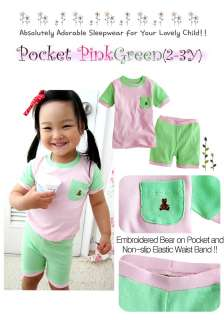 NEW Vaenait Baby Toddler Kid Girls Sleepwear Pajama Pocket PinkGreen