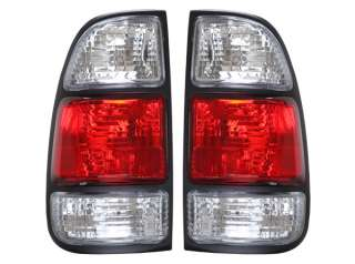Toyota Tundra 00 04 Red Clear Tail Lights   DEPO
