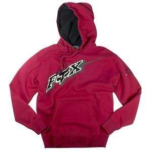 Fox Racing MX4 Hoody   Medium/Red Automotive