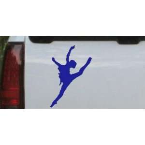 Dancer Silhouettes Car Window Wall Laptop Decal Sticker    Blue 12in X