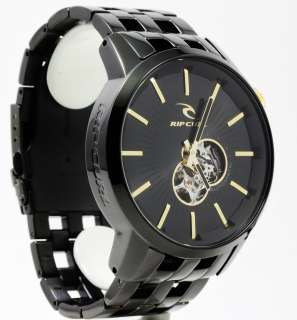 RIP CURL Detroit Mens Black w/ Gold Automatic Watch A2507MID NEW