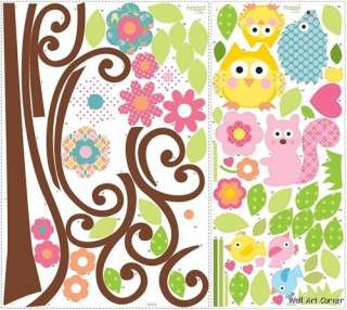 Scroll Tree BIG Nursery/Kids Room Wall Sticker Decals