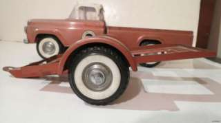 1960S NYLINT FORD SPEEDWAY SPECIAL PICKUP W/ TRAILER & RACE CAR