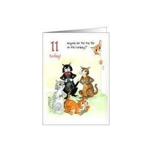 Card for 11 yr old   Cats Playing Video Game Card Toys & Games