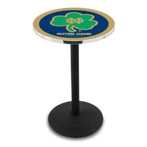 36 Notre Dame Shamrock Counter Height Pub Table   Round