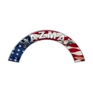 HAZMAT American Flag Firefighter Fire Helmet Arcs / Rocker