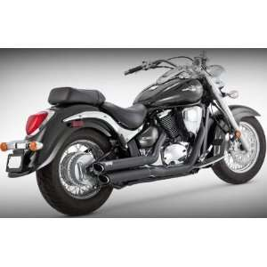 Vance & Hines Twin Slash Staggered Exhaust System   Black