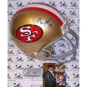 Ronnie Lott Autographed Helmet   Authentic  Sports