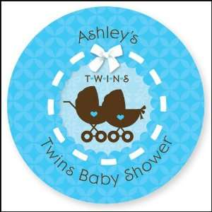 Twin Boy Baby Carriages   24 Round Personalized Baby