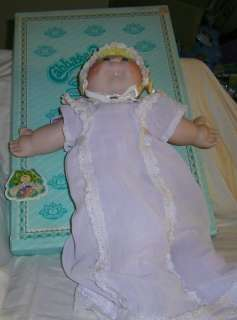 Vtg Cabbage Patch Kids Porcelain Baby w/tooth Doll MIB