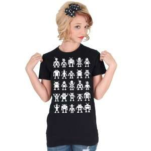 White Robot Attack American Apparel T shirt Everything