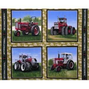 International Harvester Tractor Panel Antique Fabric By