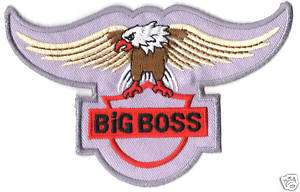 BIG BOSS LOGO EMBROIDERED Iron Patch T Shirt Sew Cloth