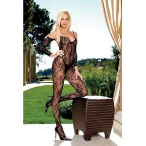 Floral Lace Open Crotch Bodystocking