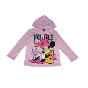 Disney Minnie Mouse Girls Flannel Hoody 6/6x Everything