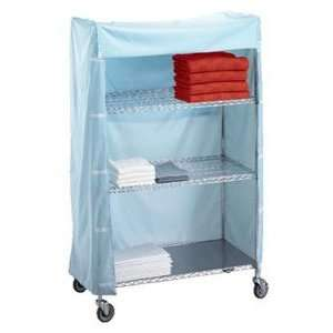 Linen Cart Nylon Cover 18x60x72, nylon cover color blue