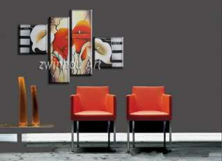 Framed Abstract modern Art oil paintings on wall MO140