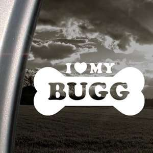 I Love My Bugg Decal Car Truck Bumper Window Sticker