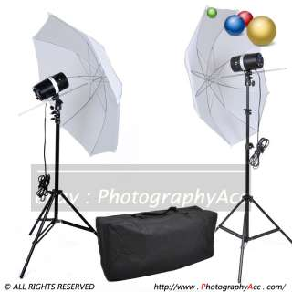 Studio Mini Flash Kit 200w strobe+ Reflective Umbrella + 2m Stand