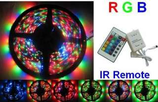 RGB 5M LED Strip Light SMD 3528 with IR Remote Control