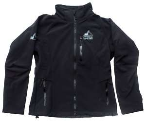 womens black WINDBREAKER jacket soft shell S M L XL