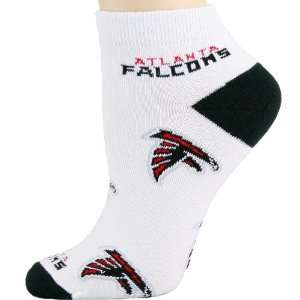 NFL Atlanta Falcons Ladies White All Over Team Logo Ankle