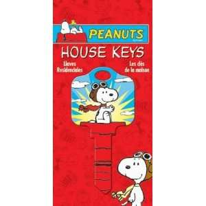 Peanuts Snoopy Flying Ace Schlage SC1 House Key Keys