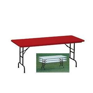 Blow Model Commercial Duty Adjustable Height Folding Table