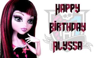 Monster High Edible Icing Image Birthday Cake Topper 1