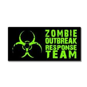 Zombie Outbreak Response Team   Green   Window Bumper Sticker