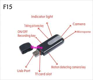 HD MINI DVR Hd video DISK USB Flash driver spy camera