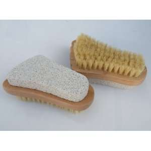 Your Soul  2pcs/Set 2 in 1 Nail Brush w/Pumice Stone,Beautiful Foot