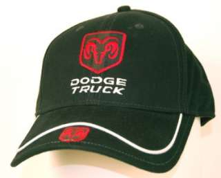 New Mopar Dodge Truck RAM Logo Cap Hat  Color Black