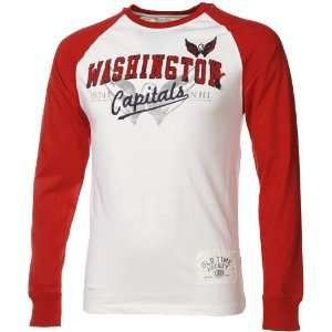 Capitals White Cicero Raglan Long Sleeve T shirt
