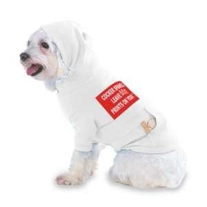 COCKER SPANIELS LEAVE PAW PRINTS ON YOUR HEART Hooded